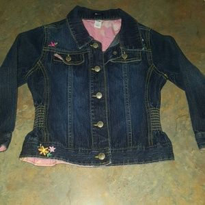 Toddler- Flower Embroidered Jacket